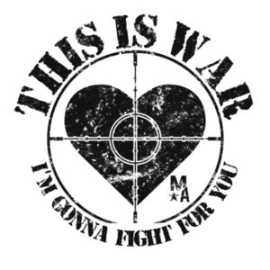 This Is War - Women's Short Sleeve T-shirt - White Design