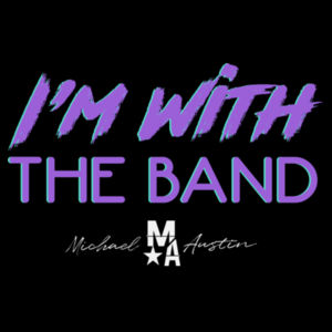 I'm With The Band - Women's Short Sleeve T-Shirt - Black Design
