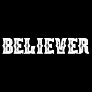BELIEVER - PREMIUM MEN'S PULLOVER HOODIE  - BLACK Design