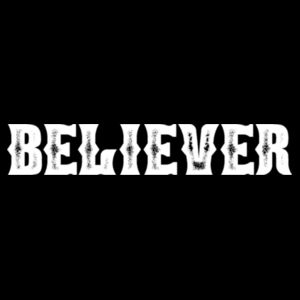 BELIEVER - PREMIUM MEN'S S/S TEE - BLACK Design