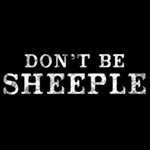DON'T BE SHEEPLE - PREMIUM WOMEN'S S/S TEE - BLACK Design