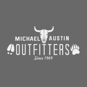 Michael Austin Outfitters - Short Sleeve T-shirt - Charcoal Heather Gray Design