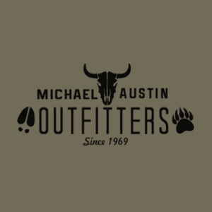 Michael Austin Outfitters - Short Sleeve T-shirt - Military Green Design