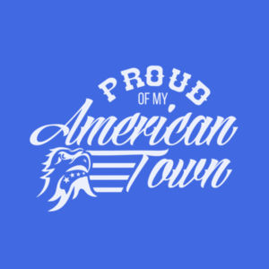 Proud of My American Town - Short Sleeve T-shirt - Royal Blue Design