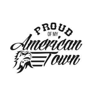 Proud of My American Town - 3/4 Sleeve Baseball T-shirt - White/Black Design