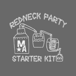 Redneck Party Starter Kit - Short Sleeve T-shirt - Charcoal Heather Gray Design
