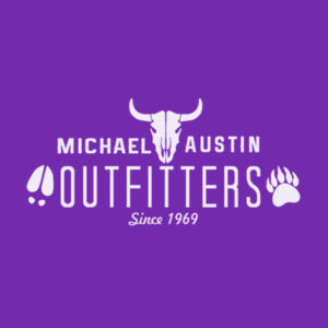 Michael Austin Outfitters - Women's Short Sleeve V-neck T-shirt - Purple Design