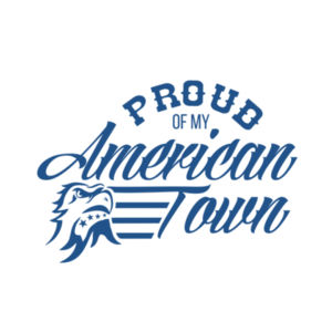 Proud of My American Town - Women's Short Sleeve V-neck T-shirt - White Design
