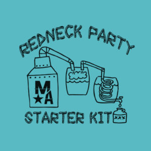 Redneck Party Starter Kit - Women's Short Sleeve V-neck T-shirt - Tahiti Blue Design