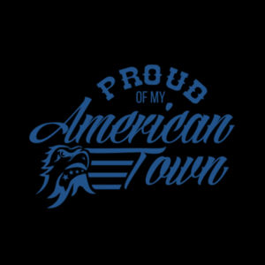 Proud of My American Town - Women's Racerback Tank Top - Black Design