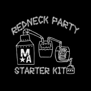 Redneck Party Starter Kit - Women's Racerback Tank Top - Black Design