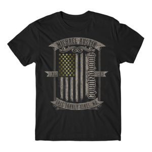 AmericanMade CountryStrong Ambigram - Short Sleeve T-shirt - Black Thumbnail