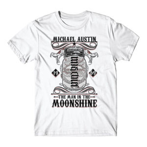 Mischief/Mayhem Ambigram - Short Sleeve T-shirt - White Thumbnail