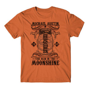 Mischief/Mayhem Ambigram - Short Sleeve T-shirt - Burnt Orange Thumbnail