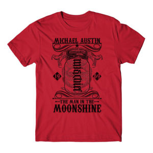 Mischief/Mayhem Ambigram - Short Sleeve T-shirt - Red Thumbnail