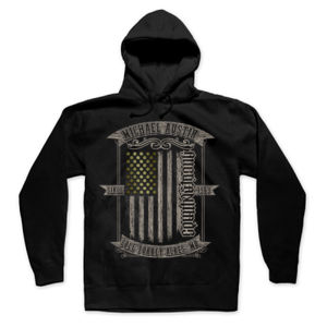 AmericanMade CountryStrong Ambigram - Pullover Hoodie - Black Thumbnail