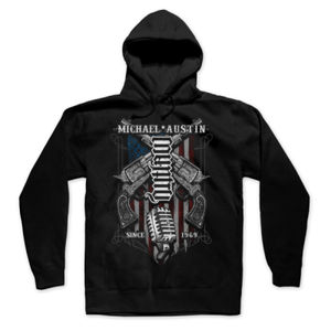 Country Outlaw Ambigram - Pullover Hoodie - Black Thumbnail