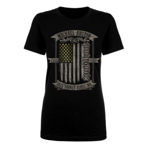 AmericanMade CountryStrong Ambigram - Women's Short Sleeve Crew Neck T-shirt - Black Thumbnail