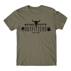 Michael Austin Outfitters - Short Sleeve T-shirt - Military Green Thumbnail