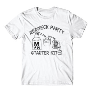 Redneck Party Starter Kit - Short Sleeve T-shirt - White Thumbnail