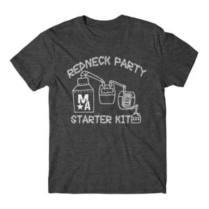 Redneck Party Starter Kit - Short Sleeve T-shirt - Charcoal Heather Gray Thumbnail