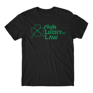 Feelin' Lucky - Short Sleeve T-shirt - Black Thumbnail
