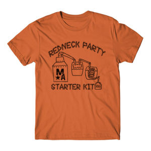 Redneck Party Starter Pack - Short Sleeve T-shirt - Burnt Orange Thumbnail