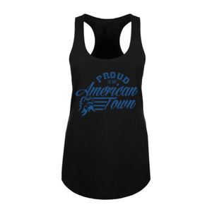 Proud of My American Town - Women's Racerback Tank Top - Black Thumbnail