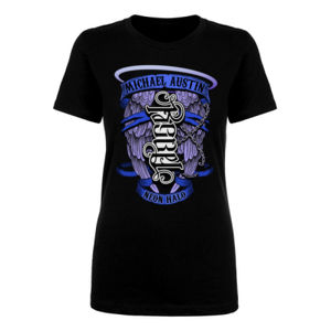 Rebel / Angel Ambigram - Women's Short Sleeve Crew Neck T-shirt - Black Thumbnail