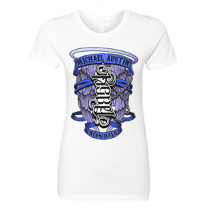 Rebel / Angel Ambigram - Women's Short Sleeve Crew Neck T-shirt - White Thumbnail