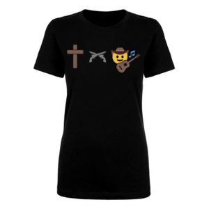 God, Guns and Country Music - Short Sleeve T-shirt - Black Thumbnail