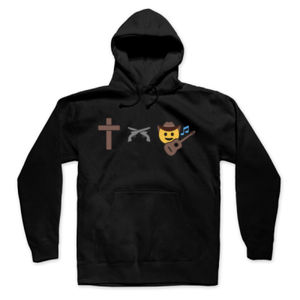 God, Guns and Country Music - Pullover Hoodie - Black Thumbnail