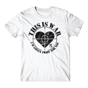 This Is War - Short Sleeve T-shirt - White Thumbnail