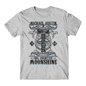Big Country Moonshine - Short Sleeve T-shirt - Light Gray Heather Thumbnail