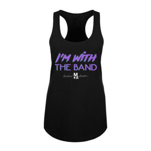 I'm With The Band - Women's Racerback Tank Top - Black Thumbnail
