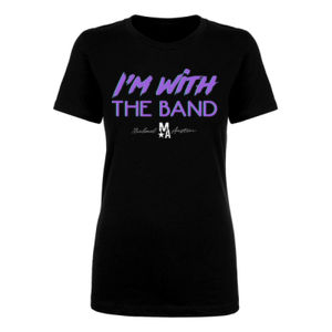 I'm With The Band - Women's Short Sleeve T-Shirt - Black Thumbnail
