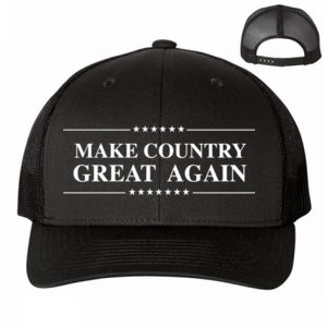 MAKE COUNTRY GREAT AGAIN - PREMIUM UNISEX HAT - BLACK Thumbnail