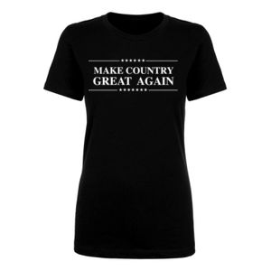 MAKE COUNTRY GREAT AGAIN - PREMIUM WOMEN'S S/S TEE - BLACK Thumbnail