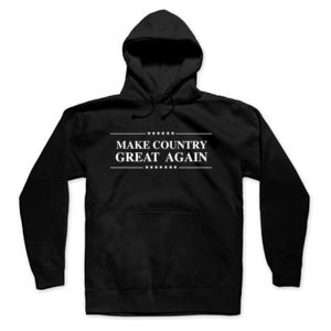 MAKE COUNTRY GREAT AGAIN - PREMIUM MEN'S PULLOVER HOODIE - BLACK Thumbnail
