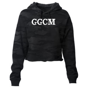GOD GUNS COUNTRY MUSIC - PREMIUM WOMEN'S CROPPED PULLOVER HOODIE - SHADOW CAMO Thumbnail