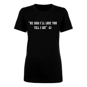 LOVE YOU TILL I DIE - PREMIUM WOMEN'S S/S TEE - BLACK Thumbnail
