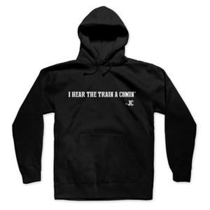 I HEAR THE TRAIN A COMIN' - PREMIUM UNISEX PULLOVER HOODIE - BLACK Thumbnail