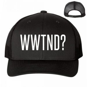 WHAT WOULD TED NUGENT DO? - PREMIUM UNISEX SNAPBACK TRUCKER HAT - BLACK Thumbnail
